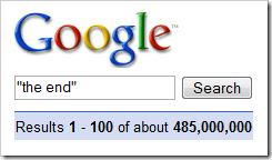 Google search for the end
