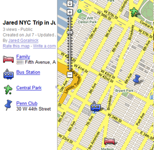 Sample Google My Map