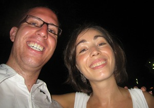 Ines and I by the Pier in Barcelona...I know it's not a great picture, but it's a happy one