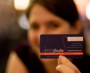 AwayFind business card